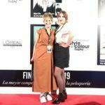 Lara y Genti en la gala celebrada en Madrid STYLE COLOUR TROPHY a finales del año 2019